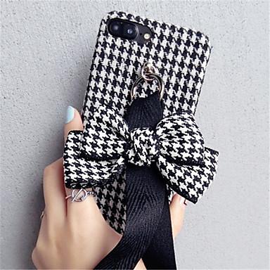 Недорогие Кейсы для iPhone 7-Кейс для Назначение Apple iPhone X / iPhone 8 Pluss / iPhone 8 С узором Кейс на заднюю панель Полосы / волосы Мягкий текстильный