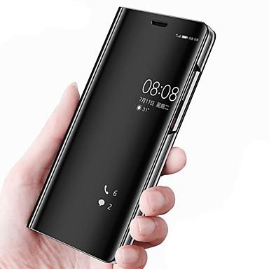 voordelige Hoesjes / covers voor Huawei-hoesje Voor Huawei Mate 10 / Mate 10 pro / Mate 10 lite met standaard / Spiegel / Flip Volledig hoesje Effen Hard PU-nahka / Mate 9 Pro
