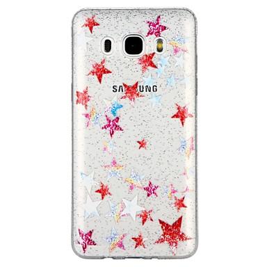 voordelige Galaxy J-serie hoesjes / covers-hoesje Voor Samsung Galaxy J7 (2017) / J7 (2016) / J5 (2017) Doorzichtig / Patroon Achterkant Cartoon / Glitterglans Zacht TPU