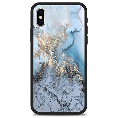 voordelige iPhone 5 hoesjes-hoesje Voor Apple iPhone X / iPhone 8 Plus / iPhone 8 Patroon Achterkant Lijnen / golven / Marmer Hard Acryl