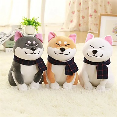olcso Plüssjátékok-1PC Wear scarf Shiba Inu Kutyák Punjene i plišane igračke Szeretetreméltő Tökéletes kellemes Lány Játékok Ajándék 1 pcs