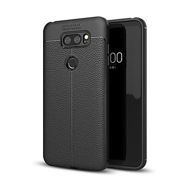 رخيصةأون LG أغطية / كفرات-غطاء من أجل LG LG V30 / LG V30+ / LG Q6 ضد الصدمات غطاء خلفي لون سادة ناعم TPU / LG G6