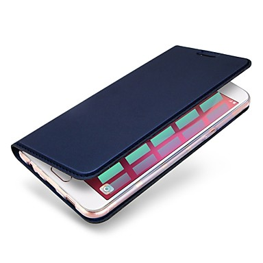 voordelige Hoesjes / covers voor Huawei-hoesje Voor Huawei P10 Plus / P10 Lite / P10 Kaarthouder / met standaard Volledig hoesje Effen Hard PU-nahka