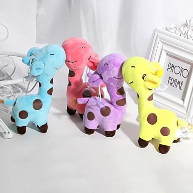 olcso Plüssjátékok-1PCS 18cm Rainbow Giraffe Zsiráf Punjene i plišane igračke Szeretetreméltő Tökéletes Ruhaanyag Uniszex Lány Játékok Ajándék 1 pcs