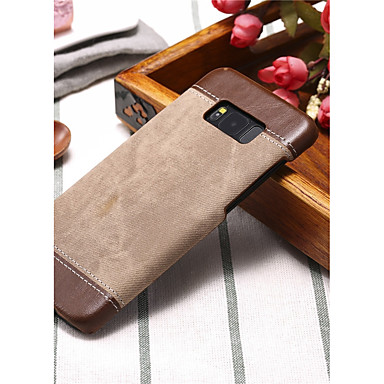 voordelige Galaxy Note-serie hoesjes / covers-hoesje Voor Samsung Galaxy Note 8 / Note 5 / Note 4 Schokbestendig Achterkant Effen Kleur Hard PU-nahka