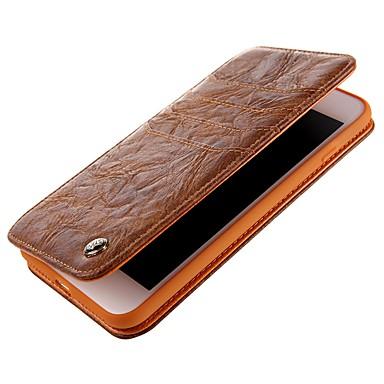 Недорогие Кейсы для iPhone 6 Plus-Кейс для Назначение Apple iPhone X / iPhone 8 Pluss / iPhone 8 Кошелек / Бумажник для карт / Флип Чехол Однотонный Твердый Кожа PU