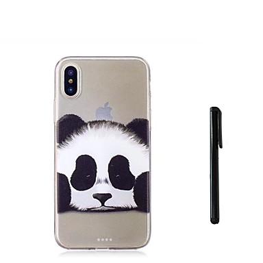 voordelige iPhone 7 hoesjes-hoesje Voor Apple iPhone XS / iPhone XR / iPhone XS Max Doorzichtig Achterkant dier / Panda Zacht TPU
