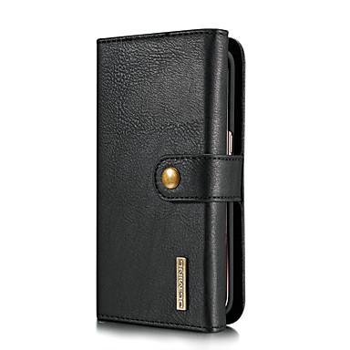 levne Galaxy S pouzdra / obaly-DG.MING Carcasă Pro Samsung Galaxy S7 edge Pouzdro na karty / se stojánkem / Flip Celý kryt Jednobarevné Pevné Pravá kůže pro S7 edge