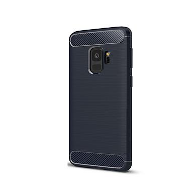Недорогие Чехлы и кейсы для Galaxy S-Кейс для Назначение SSamsung Galaxy S9 Ультратонкий Кейс на заднюю панель Сплошной цвет Мягкий Силикон