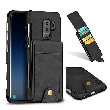 Недорогие Чехлы и кейсы для Galaxy S-Кейс для Назначение SSamsung Galaxy S9 / S9 Plus / S8 Plus Бумажник для карт / Защита от удара Кейс на заднюю панель Однотонный Твердый текстильный