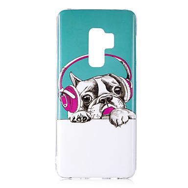 Недорогие Чехлы и кейсы для Galaxy S6 Edge-Кейс для Назначение SSamsung Galaxy S9 / S9 Plus / S8 Plus Сияние в темноте / IMD / С узором Кейс на заднюю панель С собакой / Блеск Мягкий ТПУ