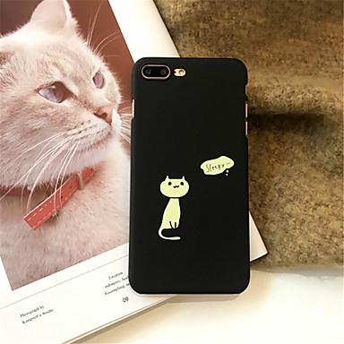voordelige iPhone 6 hoesjes-hoesje Voor Apple iPhone X / iPhone 8 Plus / iPhone 8 Patroon Achterkant Kat Hard Acryl
