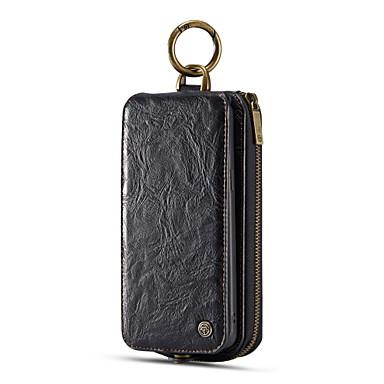Недорогие Чехлы и кейсы для Galaxy S-Кейс для Назначение SSamsung Galaxy S9 Plus Кошелек / Бумажник для карт / Флип Чехол Сплошной цвет Твердый Настоящая кожа