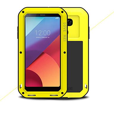 preiswerte Hüllen / Cover für LG-Hülle Für LG LG G6 Wasserfest / Stoßresistent Ganzkörper-Gehäuse Volltonfarbe Hart Metal