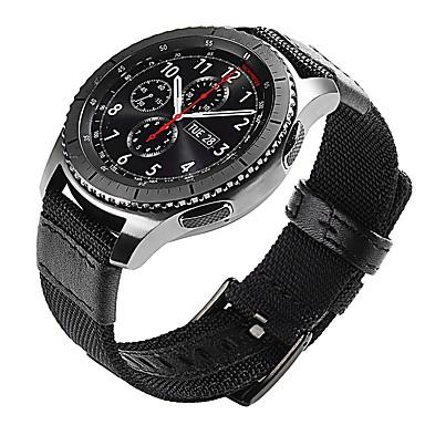 Недорогие Часы для Samsung-Ремешок для часов для Gear S3 Frontier / Gear S3 Classic Samsung Galaxy Классическая застежка Кожа / Нейлон Повязка на запястье