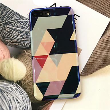 Недорогие Кейсы для iPhone 7-Кейс для Назначение Apple iPhone X / iPhone 8 Pluss / iPhone 8 С узором Кейс на заднюю панель Геометрический рисунок Мягкий ТПУ
