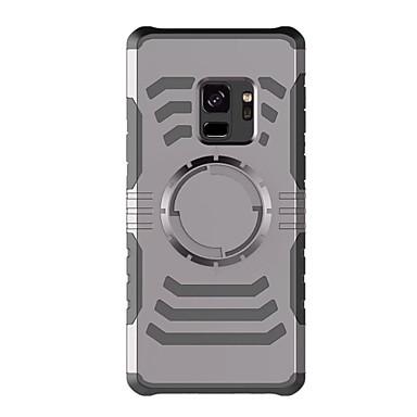 Недорогие Чехлы и кейсы для Galaxy S-Кейс для Назначение SSamsung Galaxy S9 / S9 Plus / S8 Plus Нарукавная повязка С ремешком на руку Однотонный Твердый пластик