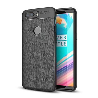 رخيصةأون حالات / أغطية ون بلس-غطاء من أجل OnePlus One Plus 5 / OnePlus 5T / One Plus 3T ضد الصدمات غطاء خلفي لون سادة ناعم TPU