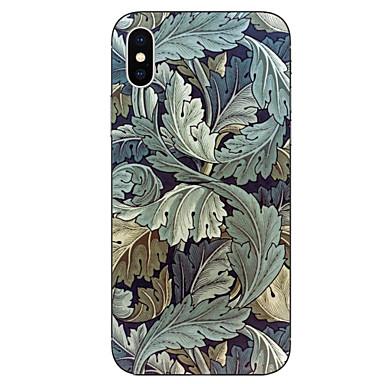 Недорогие Кейсы для iPhone 6 Plus-Кейс для Назначение Apple iPhone X / iPhone 8 Pluss / iPhone 8 С узором Кейс на заднюю панель Растения / дерево Мягкий ТПУ