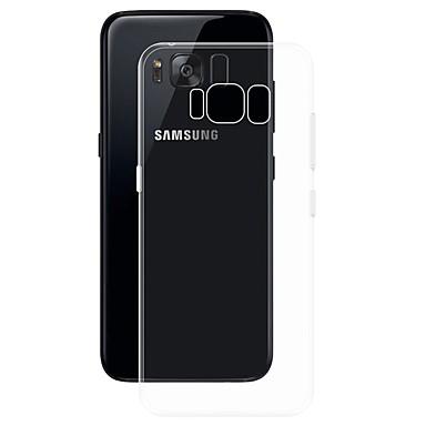 رخيصةأون حافظات / جرابات هواتف جالكسي S-غطاء من أجل Samsung Galaxy S8 Plus شفاف غطاء خلفي لون سادة ناعم TPU