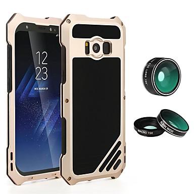 Недорогие Чехлы и кейсы для Galaxy S-Кейс для Назначение SSamsung Galaxy S8 Plus / S8 / S7 edge Защита от удара / броня Чехол Однотонный Твердый Металл