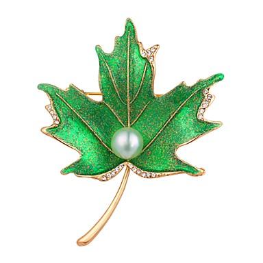 olcso Egyéb ékszerek-Női Melltűk Leaf Shape hölgyek Vintage Divat Arannyal bevont Bross Ékszerek Ezüst Aranyozott Kompatibilitás Estély Diákbál
