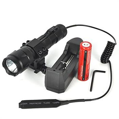 olcso Elemlámpák-LED zseblámpák 2500 lm LED Sugárzók 1 világítás mód Kempingezés / Túrázás / Barlangászat Kerékpározás Fekete