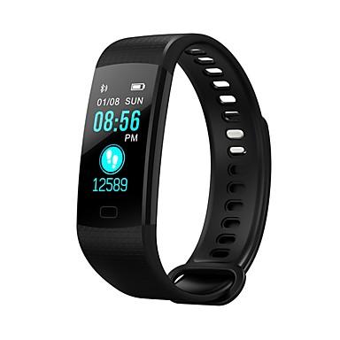 baratos Smartwatches-YY-Y5 Feminino Relógio inteligente Pulseira inteligente Android iOS Bluetooth Controle de APP Medição de Pressão Sanguínea Calorias Queimadas Pedômetros Anti-lost Pulso Rastreador Podômetro Aviso de