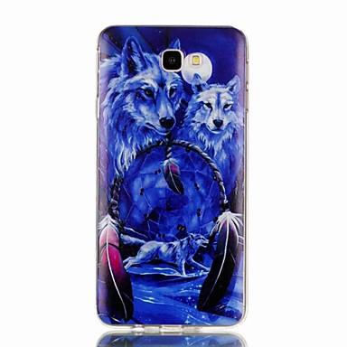 voordelige Galaxy J-serie hoesjes / covers-hoesje Voor Samsung Galaxy J7 Prime / J7 (2017) / J7 (2016) Patroon Achterkant dier Zacht TPU