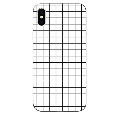 voordelige iPhone-hoesjes-hoesje Voor Apple iPhone X / iPhone 8 Plus / iPhone 8 Patroon Achterkant Geometrisch patroon Zacht TPU