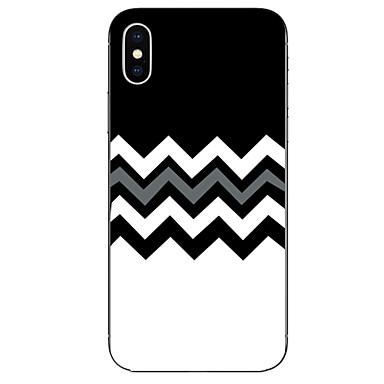 voordelige iPhone-hoesjes-hoesje Voor Apple iPhone X / iPhone 8 Plus / iPhone 8 Patroon Achterkant Lijnen / golven Zacht TPU