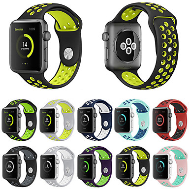voordelige Apple Watch-bandjes-Horlogeband voor Apple Watch Series 5/4/3/2/1 Apple Sportband Silicone Polsband