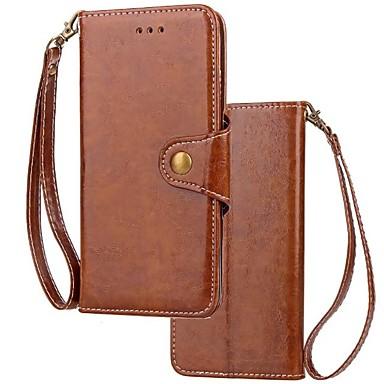 Недорогие Кейсы для iPhone 6 Plus-Кейс для Назначение Apple iPhone X / iPhone 8 Pluss / iPhone 8 Кошелек / Бумажник для карт / Флип Чехол Однотонный Твердый Настоящая кожа