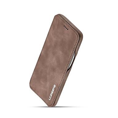 Недорогие Чехлы и кейсы для Galaxy S-Кейс для Назначение SSamsung Galaxy S8 Plus / S8 Бумажник для карт / Защита от удара / Флип Чехол Однотонный Твердый Настоящая кожа