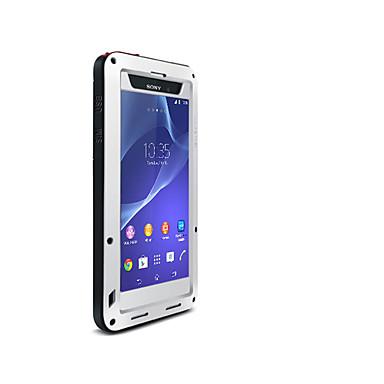 olcso Sony tokok-Case Kompatibilitás Sony Sony Xperia Z2 Víz / Dirt / ütésálló Héjtok Tömör szín Kemény Fém