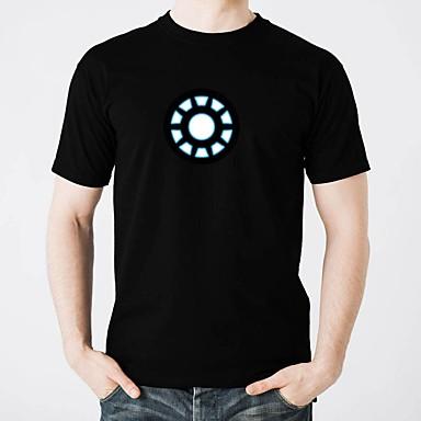 olcso LED pólók-LED pólók Csillanás Tiszta pamut LED / Alkalmi 2 AAA elem