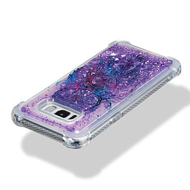 Недорогие Чехлы и кейсы для Galaxy S-Кейс для Назначение SSamsung Galaxy S8 Plus / S8 / S7 edge Защита от удара / Движущаяся жидкость / С узором Кейс на заднюю панель Ловец снов / Сияние и блеск Мягкий ТПУ