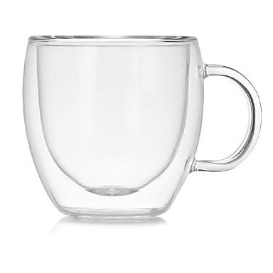 olcso Bögrék-drinkware Üveg / Kávéscsészék Magas bórüveg Hőszigetelő / Ergonómikus dizájn Esküvő / Évforduló