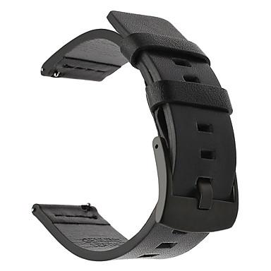 voordelige Smartwatch-accessoires-Horlogeband voor Gear S3 Frontier / Gear S3 Classic Samsung Galaxy / Huawei Klassieke gesp Leer Polsband