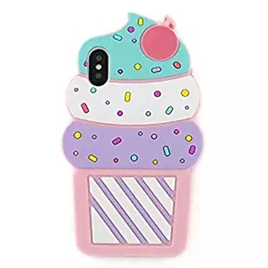 voordelige iPhone 6 Plus hoesjes-hoesje Voor Apple iPhone X / iPhone 8 Plus / iPhone 8 Patroon Achterkant Cartoon / 3D Cartoon / IJs Zacht Siliconen
