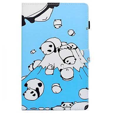voordelige Samsung Tab-serie hoesjes / covers-hoesje Voor Samsung Galaxy Tab E 9.6 Kaarthouder / met standaard / Flip Volledig hoesje Cartoon Hard PU-nahka