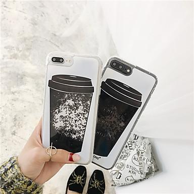 voordelige iPhone-hoesjes-hoesje Voor Apple iPhone X / iPhone 7 Plus / iPhone 7 Stromende vloeistof / Glitterglans Achterkant Glitterglans Zacht TPU