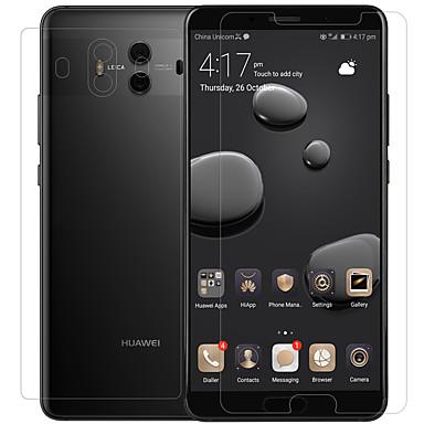 olcso Huawei képernyővédők-HuaweiScreen ProtectorMate 10 High Definition (HD) Front & Back és fényképezőgép objektívvédő 3 db Edzett üveg