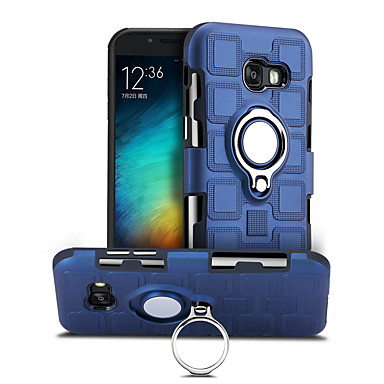 voordelige Galaxy J-serie hoesjes / covers-hoesje Voor Samsung Galaxy J7 (2017) 360° rotatie / Schokbestendig / Ringhouder Achterkant Effen Hard PC