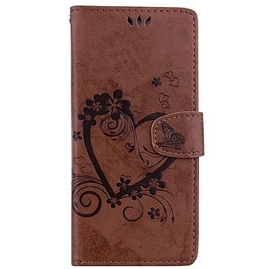 voordelige Galaxy Note-serie hoesjes / covers-hoesje Voor Samsung Galaxy Note 8 / Note 5 Portemonnee / Kaarthouder / met standaard Volledig hoesje Effen Kleur / Vlinder Hard PU-nahka