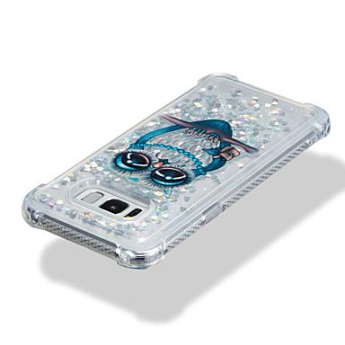 Недорогие Чехлы и кейсы для Galaxy S-Кейс для Назначение SSamsung Galaxy S8 Plus / S8 / S7 edge Защита от удара / Движущаяся жидкость / С узором Кейс на заднюю панель Сова / Сияние и блеск Мягкий ТПУ