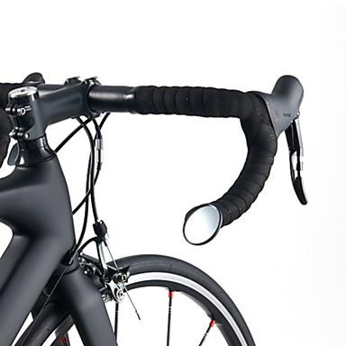 olcso Csengők, tükrök és zárak-ROCKBROS Visszapillantó tükör Kormányra szerelhető tükör Flexibilis Biztonság Kerékpározás motorbicikli Bike Üveg Fekete 1 pcs Treking bicikli Mountain bike