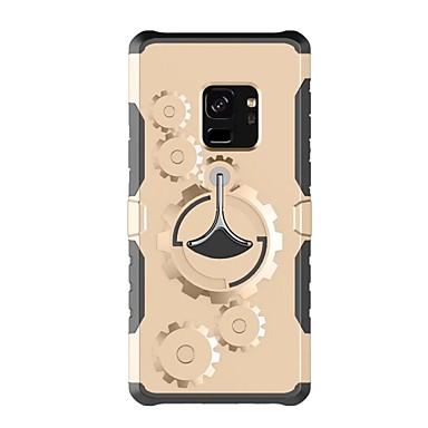 Недорогие Чехлы и кейсы для Galaxy S-Кейс для Назначение SSamsung Galaxy S9 / S9 Plus / S8 Plus со стендом С ремешком на руку Однотонный Твердый пластик