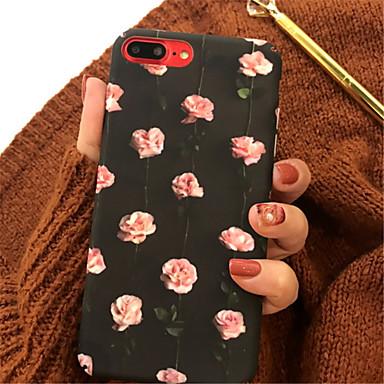 Недорогие Кейсы для iPhone-Кейс для Назначение Apple iPhone X / iPhone 8 Pluss / iPhone 8 С узором Кейс на заднюю панель Цветы Твердый Акрил
