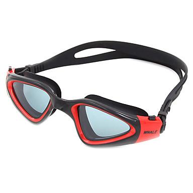 billige Svømmebriller-svømmebriller Vandtæt Anti-Tåge Justerbar Størrelse Anti-UV Rids-resistent Brudsikker silica Gel PC Gul Hvid Grøn Lysegrå Lysegrøn Lys Lyserød